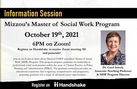 SHP: MU Master of Social Work (MSW) Program Virtual Information Session