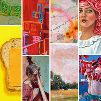 Collage of images of artworks by Susan Palmisano