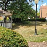 Alumni House front lawn.