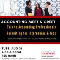 Accounting Meet and Greet: Accounting Career Fair