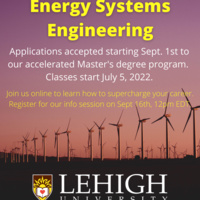 Thinking about a Career in Energy? | Join us for M.Eng. in Energy Systems Engineering Online Info Session