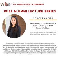 WiSE Alumni Lecture Series: Joycelyn Yip