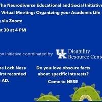 NESI Virtual Meeting- Organizing your Academic Life