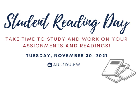 Student Reading Day (Staff & Faculty Professional Development Day)