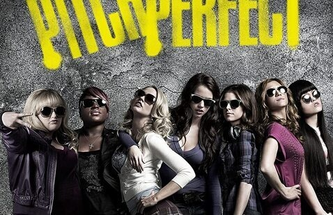 Pitch Perfect movie poster: 8 women posing in sunglasses