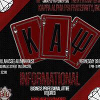 Kappa Alpha Psi Fraternity, Inc. Informational