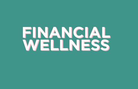 Financial Wellness Logo (pink and white with green background)