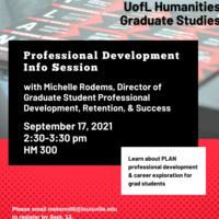 Humanities Graduate Studies Professional Development Info Session