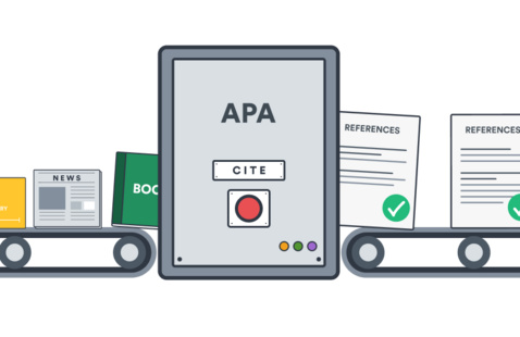 Graphic of APA references