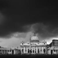 Blue Hour. St. Peter Basilica, Vatican, Rome, Italy