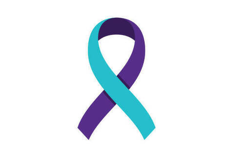 Suicide Prevention Ribbon, You are not alone!