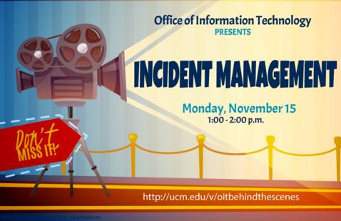 OIT: Incident Management Webinar