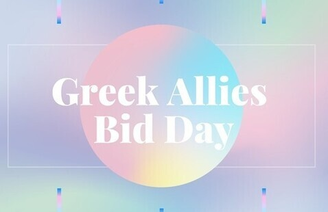 Greek Allies Bid Day