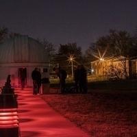 Evening observing at the Richard D. Schwartz Observatory