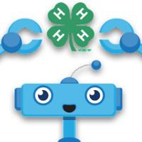 Blue Robot Head