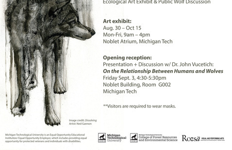 The Spirit of the Hunt: Ecological Art Exhibit & Public Wolf Discussion
