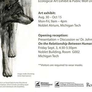 Featured event photo for The Spirit of the Hunt: Ecological Art Exhibit & Public Wolf Discussion
