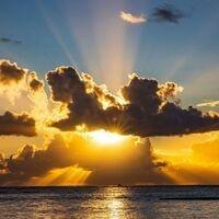 sunrise above the ocean