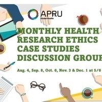 APRU Global Health Monthly Health Research Ethics Case Studies Discussion Group