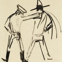 José Clemente Orozco; Untitled, c. 1930; Ink drawing on paper; Gift of Mr. Jamieson Kennedy; LUGD 69 1001
