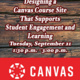 Designing a Canvas Course Site That Supports Student Engagement and Learning