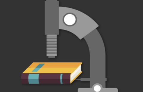 A book under a microscope