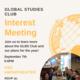 Global Studies Club Interest Meeting