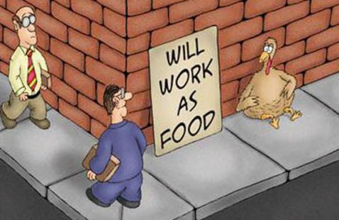 Comic of turkey using wrong preposition