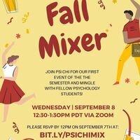 PSI CHI: Fall Mixer