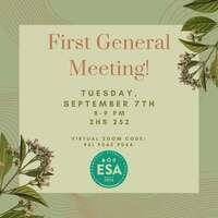 Environmental Student Association (ESA) General Meeting