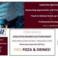 NABE at FSU: Executive Board Election Meeting 09/08 @ 7PM
