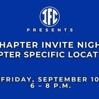 IFC Chapter Invite Night