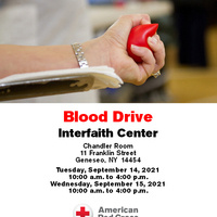 Blood Drive at the Interfaith Center!!!