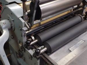 photo of Vandercook proof press