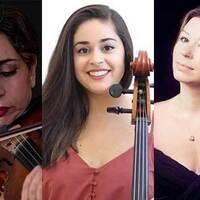 Diana Seitz, violin, Esther Seitz, cello, and Anastasia Dedik, piano