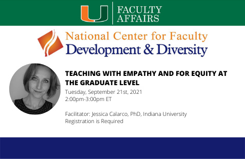 NCFDD | Teaching with Empathy and for Equity at the Graduate Level