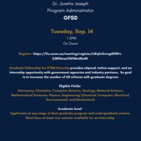 Graduate Fellowship for STEM Diversity Info Session