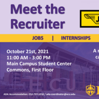 Meet the Recruiter: J.B. Hunt October 21st, 2021 from 11am- 3pm at the Main Student Center First Floor