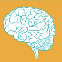 The University Libraries Presents Trivia Night - white and green brain on a yellow background.