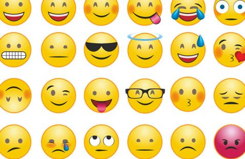 A variety of emojis.
