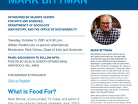 An Evening with Mark Bittman and Panel Discussion