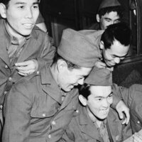 Japanese-American soldiers at Camp Shelby in Mississippi in 1943