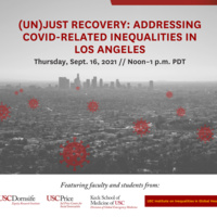 (Un)Just Recovery: Addressing COVID-Related Inequalities in Los Angeles