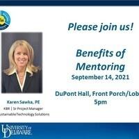 UD Alumni Karen Sawka and Anthony Cicamore discuss benefits of mentoring!