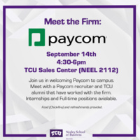 Meet the Firm - Paycom (Hosted by TCU Sales Center)