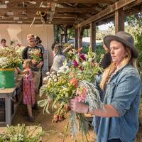 Floral Design Workshop on the UCSC Farm