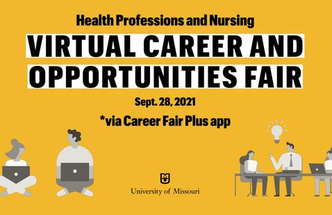 Promo graphic for virtual career fair