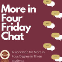 Friday Chat for More in Four: Goal Setting for Graduate Applications