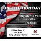 """Photo of flag with text reading, """"Constitution Day"""""""