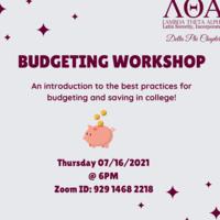 Lambda Theta Alpha Latin Sorority, Incorporated: Delta Phi Chapter Budgeting Workshop